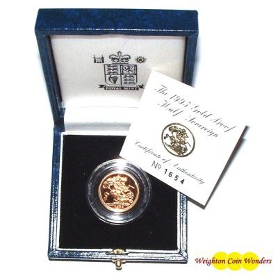 1995 Gold Proof 1/2 Sovereign